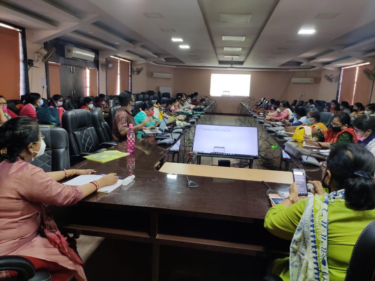 पोषण माह के तहत समाज कल्याण विभाग द्वारा एक दिवसीय प्रशिक्षण
